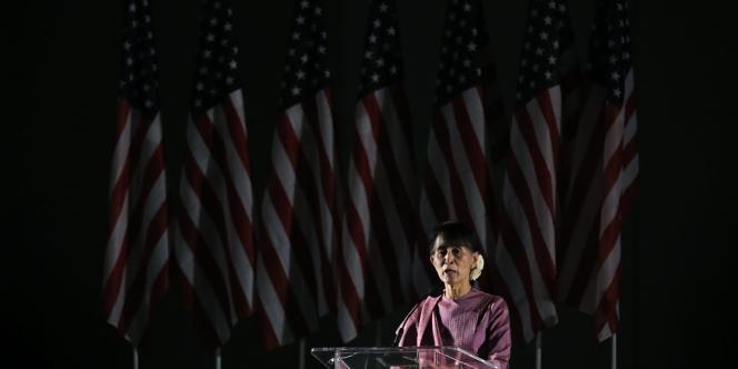 Aung San Suu Kyi à Los Angeles, le 2 octobre 2012, à Los Angeles.