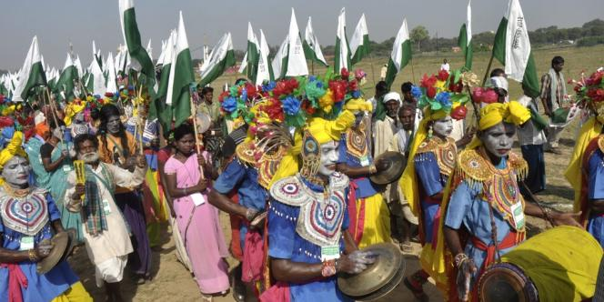 Les marcheurs vont rallier Gwalior à New Delhi en 26 jours.