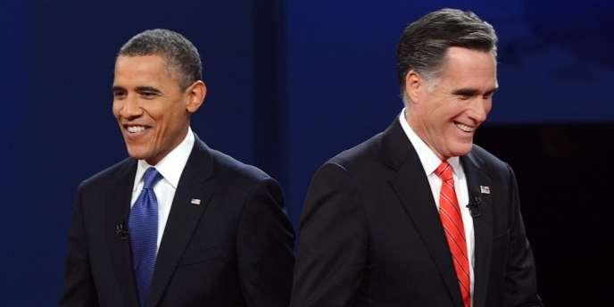Barack Obama et Mitt Romney ont débattu des questions économiques à l'université de Denver (Colorado), mercredi 3 octobre).