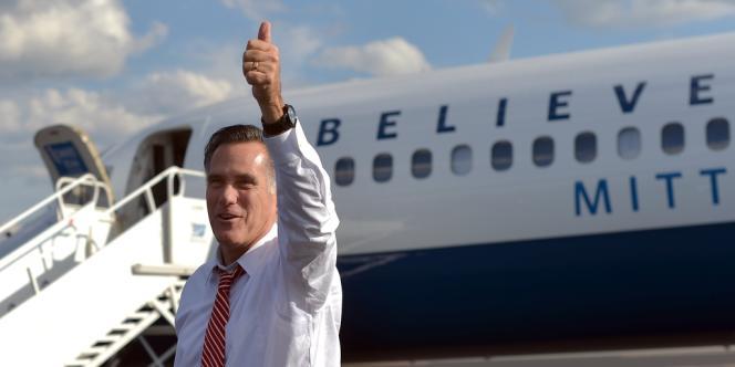 Romney arrive en Virginie, jeudi 4 octobre.
