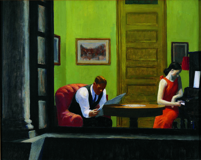 Room in New York, 1932 : huile sur toile.