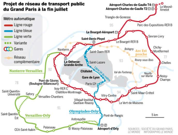 Projet de réseau de transport public du