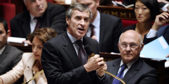 Le ministre délégué au budget, Jérôme Cahuzac, à l'Assemblée nationale le 2 octobre.