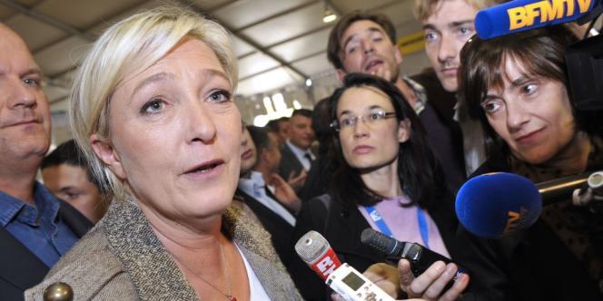 Marine Le Pen, le 4 octobre.