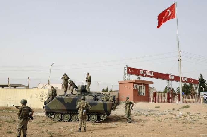 A la frontière turco-syrienne, près d'Akçakale, en octobre 2012.