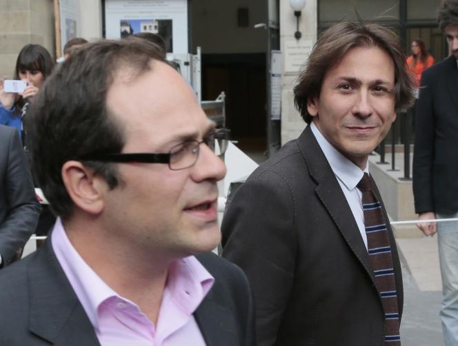 Jérôme Guedj, député PS de l'Essonne, (à droite) et Emmanuel Maurel, premier signataire de la motion