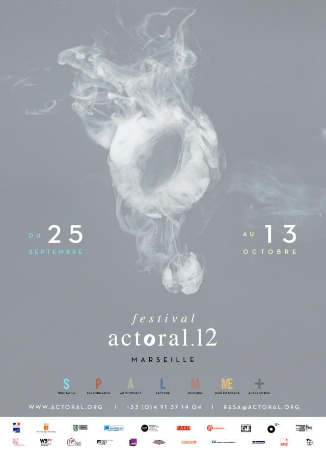 Un détail de l'affiche du festival actOral12