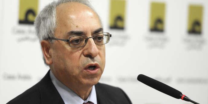 Abdelbasset Sayda, président du Conseil national syrien (CNS), à Madrid, le 3 septembre.
