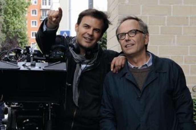 François Ozon et Fabrice Luchini sur le tournage du film