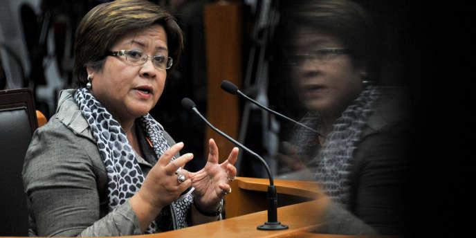 Leila de Lima, ministre de la justice philippine.