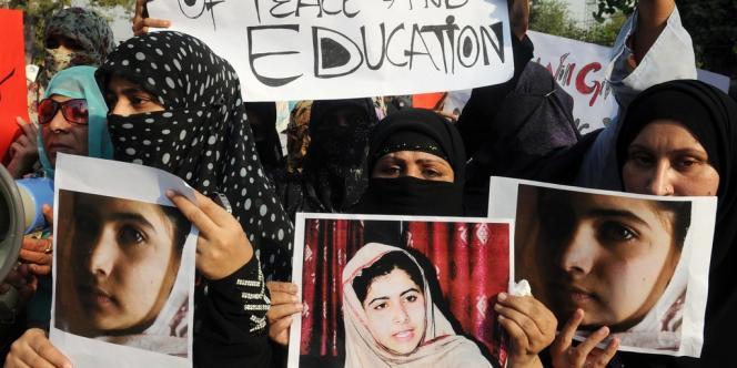 Malala Yousufzai, 14 ans, a été attaquée mardi en plein jour par des combattants du Mouvement des talibans du Pakistan à Mingora, la principale ville de la vallée de Swat.