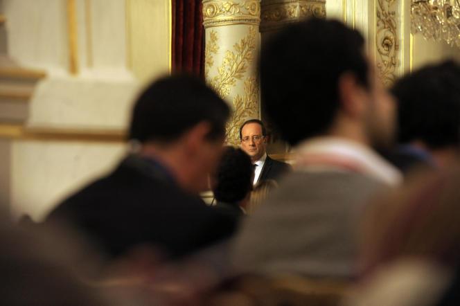François Hollande, mercredi 10 octobre au palais de l'Elysée.