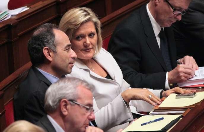 Michèle Tabarot et Jean-François Copé, à l'Assemblée nationale le 29 mars 2011.