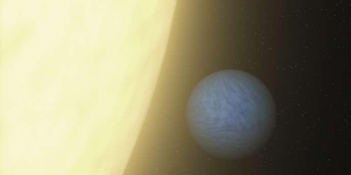 Vue d'artiste de la planète 55 Cancri-e.
