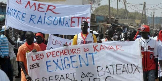 Manifestation de pêcheurs sénégalais contre les