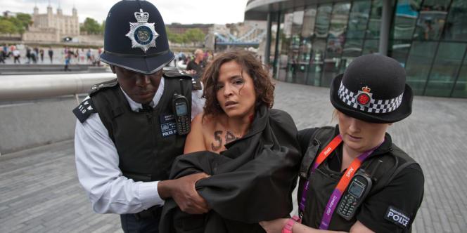 Loubna Méliane à Londres, le 2 août.