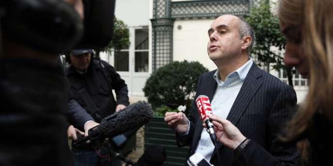 Jérôme Boursican, avocat de l'élue EELV Florence Lamblin, le 13 octobre à Paris.