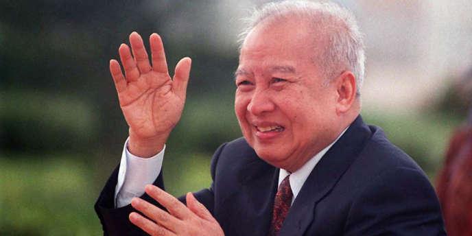 Norodom Sihanouk, en 1996.
