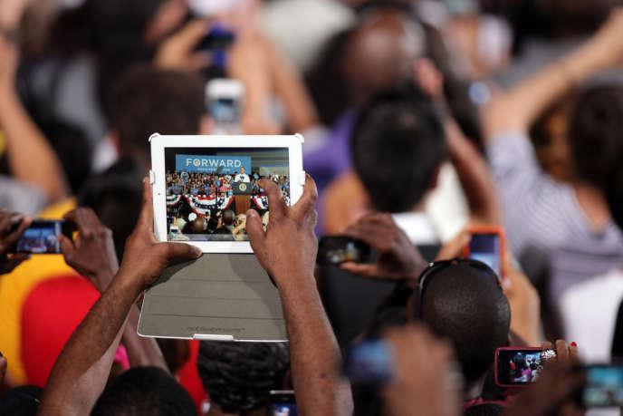 Meeting de campagne de Barack Obama à Desert Pines High School à Las Vegas, le 30 Septembre.