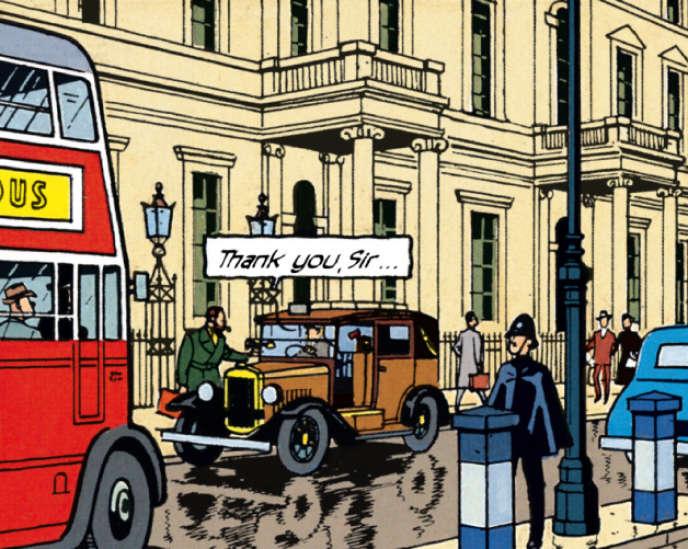 Illustration insérée dans le Géoguide Londres de Gallimard.