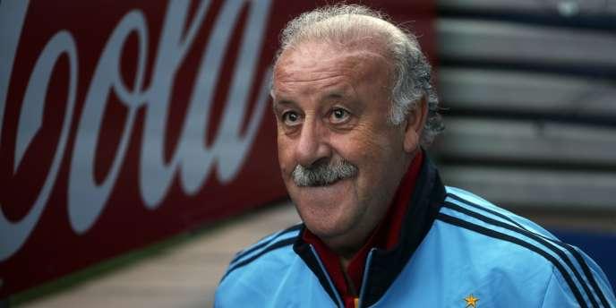 Vicente Del Bosque, sélectionneur heureux de l'Espagne, le 15 octobre à Madrid.