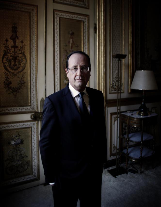 François Hollande à l'Elysée le 15 octobre 2012.