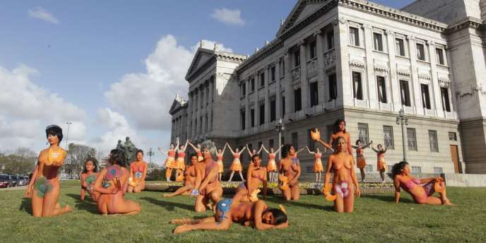 Manifestation de féministes, le 25 septembre, en faveur de la dépénalisation de l'avortement.