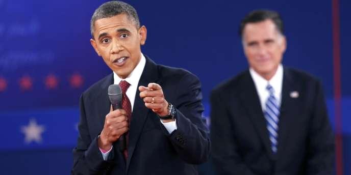Barack Obama, lors du second débat avec Mitt Romney.