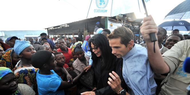 Yamina Benguigui, ministre de la Francophonie, le 15 octobre dans le camp de Kanyaruchinya.