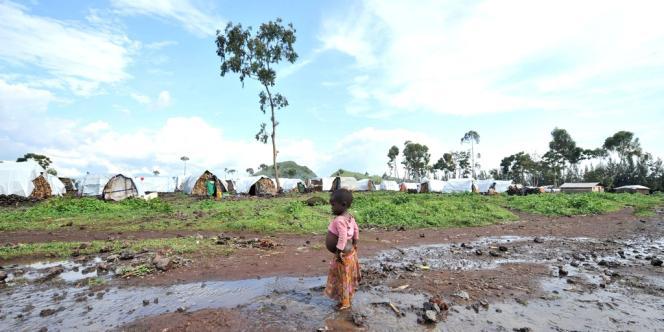 Un enfant dans le camp de Kanyaruchinya, le 15 octobre.