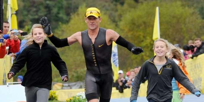 Lance Armstrong, le 7 octobre 2012 à Ellicott City, Etats-Unis.