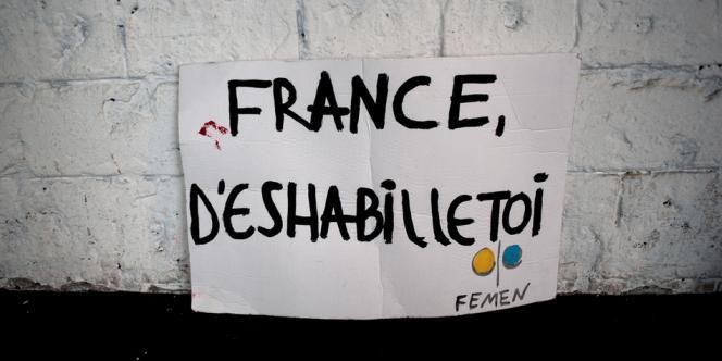 Dans les locaux du mouvement Femen à Paris, le 14 octobre.