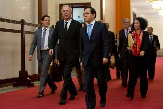 Paul Jean-Ortiz, conseiller diplomatique de François Hollande, le 29 septembre, à Pékin.