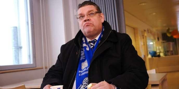Timo Soini, leader anti-euro du Parti des Finlandais, à Espoo, le 22 janvier.