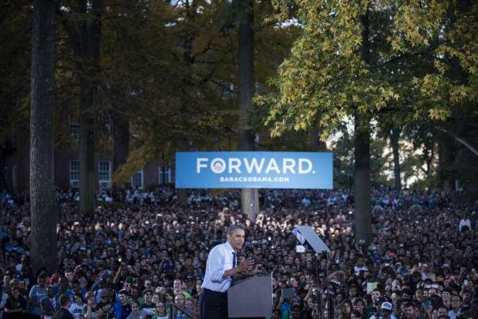 Barack Obama à l'université de l'Ohio, le 17 octobre 2012.