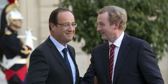 François Hollande et Enda Kenny, premier ministre irlandais, lundi 22 octobre à l'Eslyée.