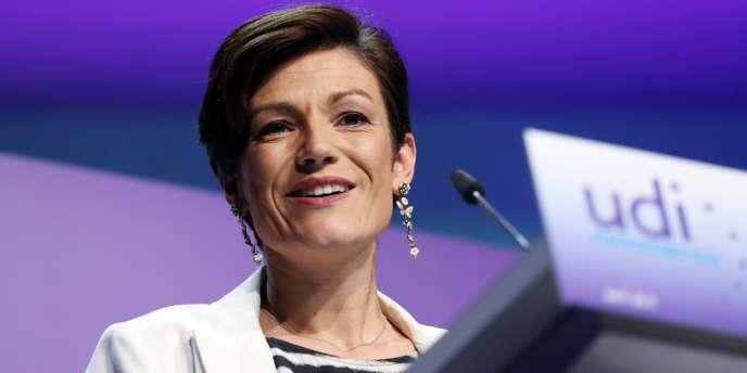 Chantal Jouanno, lors du congrès de lancement de l'UDI, dimanche 21 octobre à la Mutualité, à Paris.