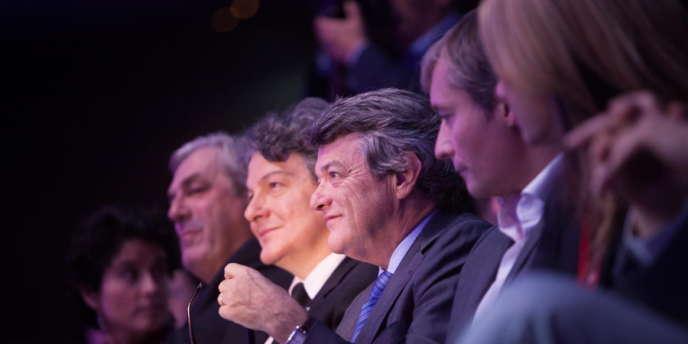 Jean-Louis Borloo, lors de l'assemblée constituante de l'Union des démocrates et des indépendants (UDI), à la Mutualité à Paris, dimanche 21 octobre.