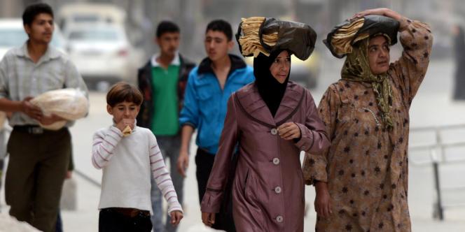 Alep, en octobre 2012. Plus de trois mois de guerre dans la capitale industrielle de la Syrie et la principale plaque tournante pour le commerce agricole ont affaiblit l'économie du pays.
