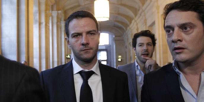 Jérôme Kerviel et son avocat David Koubbi, au palais de justice de Paris, le 24 octobre.