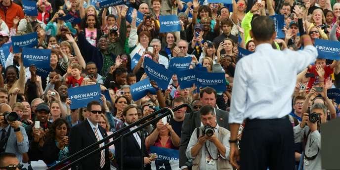 Barack Obama à Davenport, dans l'Iowa, mercredi 24 octobre.