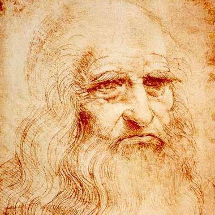 Autoportrait de Léonard de Vinci, vers 1510-1515 (détail).
