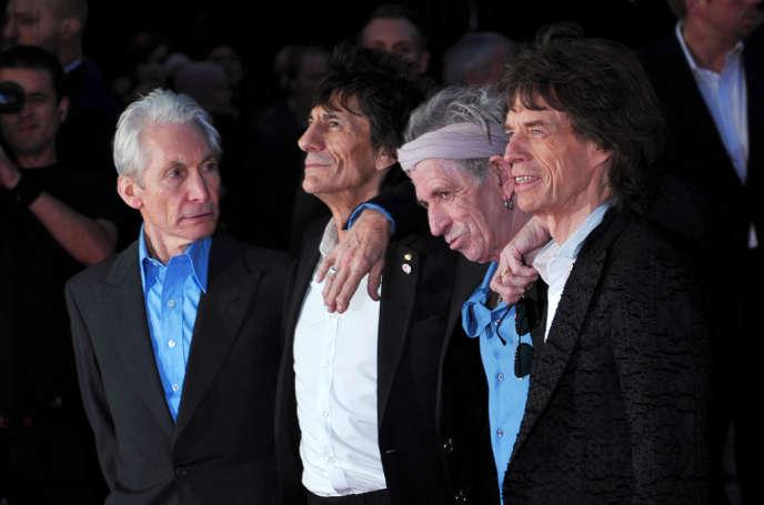 Les Rolling Stones en octobre 2012.