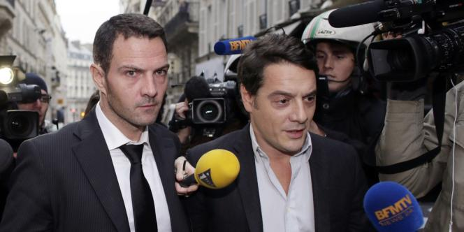 Jérôme Kerviel et son avocat David Koubbi à Paris, mercredi 24 octobre 2012.