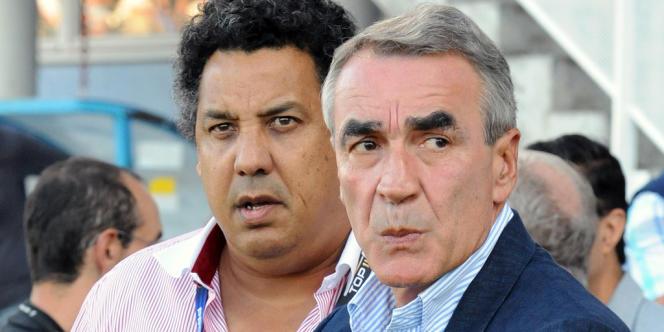 Serge Blanco et Pierre-Yves Revol, le 25 septembre à Castres.