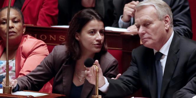 Jean-Marc Ayrault et Cécile Duflot, le 23 octobre, à l'Assemblée nationale.