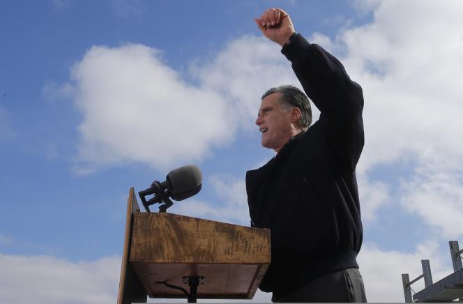 Mitt Romney à Ames, dans l'Iowa, le 26 octobre 2012.