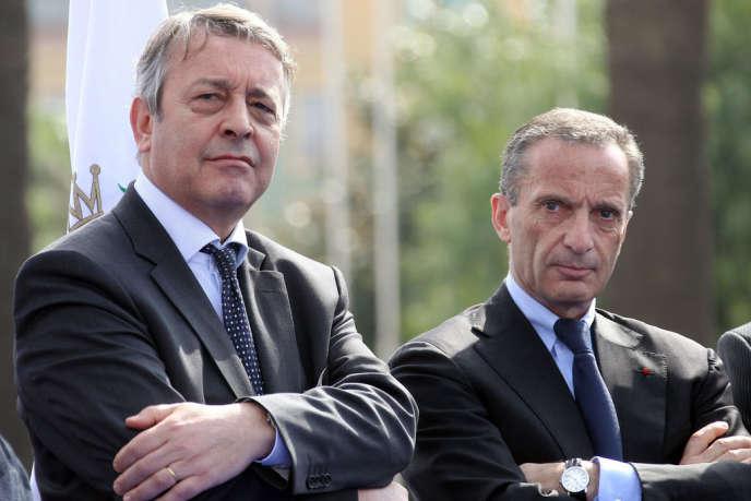 A aucun moment, les frères ennemis Antoine Frérot (à gauche), PDG de Veolia, et Henri Proglio, PDG d'EDF, ne se sont parlé dans les négociations qui ont abouti au partage de leur filiale commune, Dalkia..