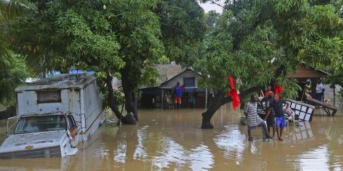L'ouragan Sandy a fait plus de 50 morts en Haïti. Leogane, le 26 octobre.