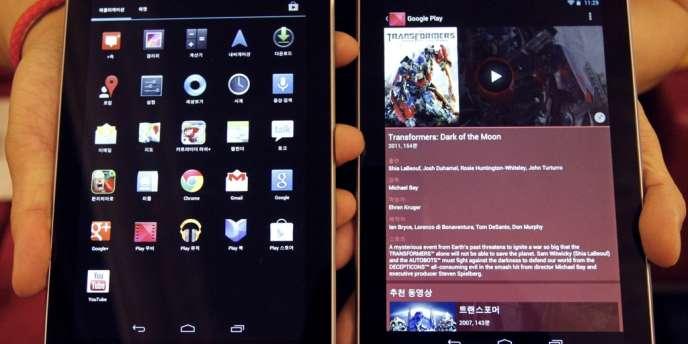 Des tablettes Nexus 7.